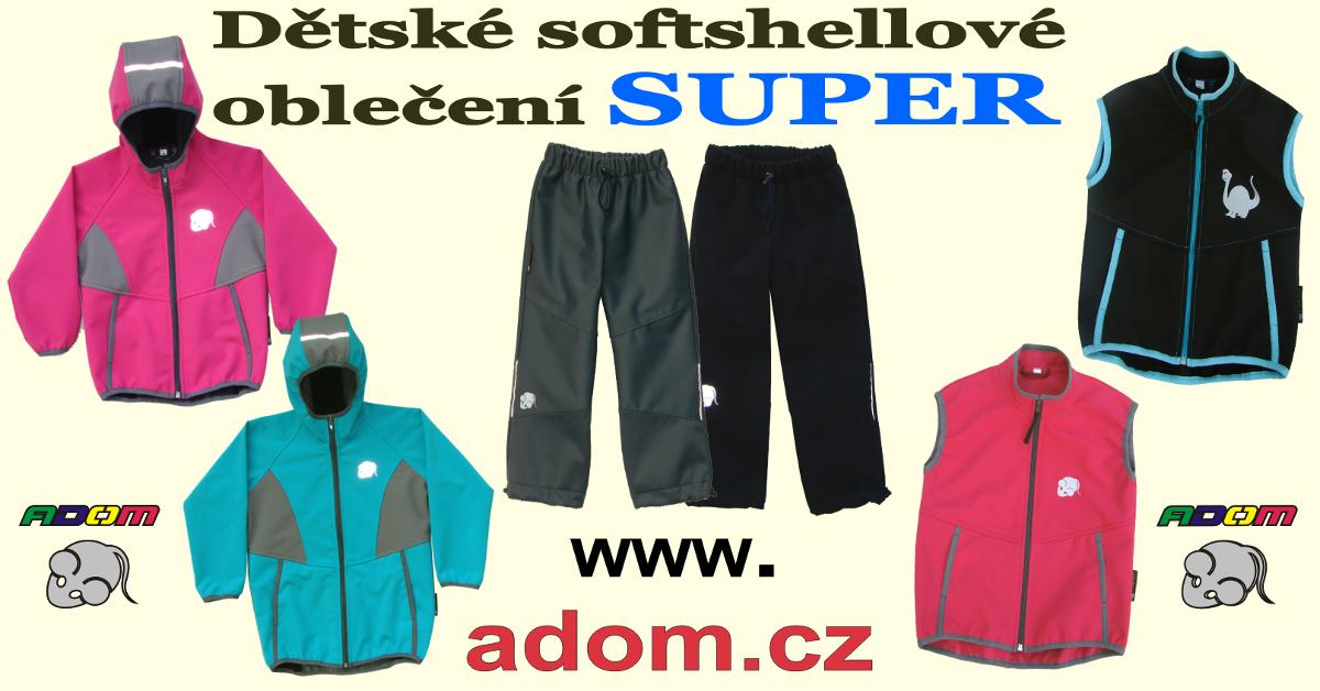 Česká výroba dětského softshellového oblečení Adom 8190955364